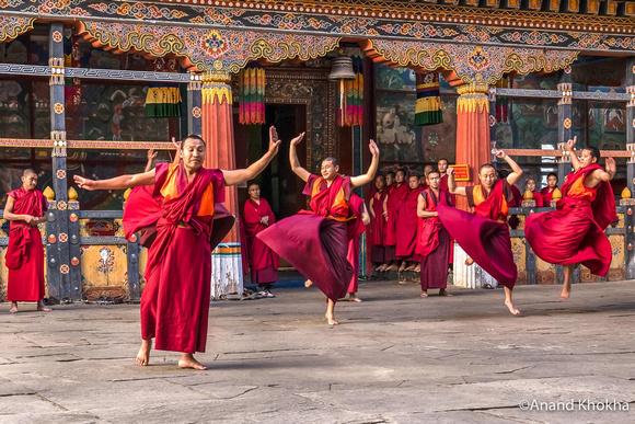 Dancing Monks--Paro Dzong